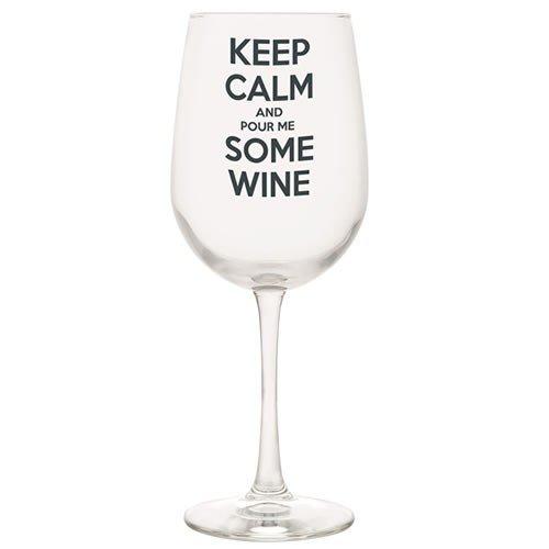Santa Barbara Design Studio WIN22-2510N JKC Long Stem Wine Glass, Keep Calm