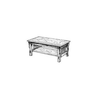 Mission style coffee table plans mission style coffee for Mission style end table plans