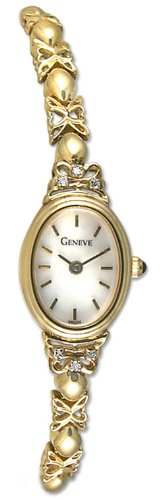 Geneve Mini 14k Solid Gold Diamond Womens Watch W08085