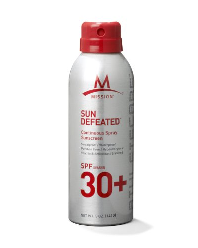 Mission Athletecare Sun Defeated Continuous Spray Sunscreen Spf 30+, 5-Ounce Bottle