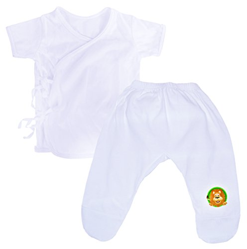 Judah Classic Infant Sleepwear Organic Cotton Preemie Newborn Baby Clothes & Footie Pajama Pants for Boys or Girls