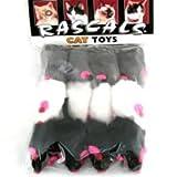 Coastal Rascals Cat Toy Fur Mice 12 Pack