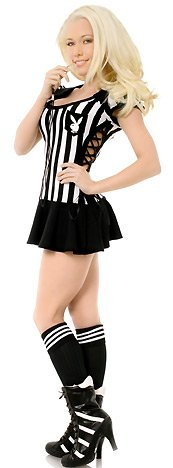 Women's Sexy Playboy Racy Referee Adult Halloween Costume Size L (14-16) #102124