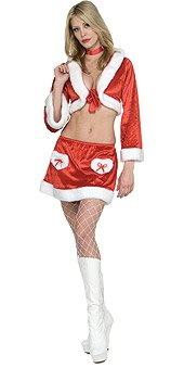 Miss Christmas Cookie Sexy Mrs. Claus Adult Christmas Costume Size 2-6 X-Small