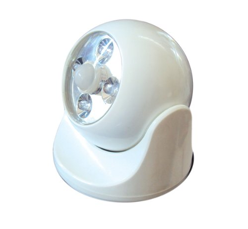 MAXSA Innovations 40241 Battery-Powered Motion-Activated LED Anywhere Light, White