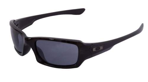 Oakley Fives Squared Sunglasses Polished Black Frame/Grey Lens
