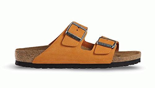 Birkenstock Sandals ''Arizona'' From Leather In Orange 41.0 Eu W front-791463