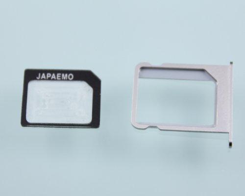 JAPAEMO【Amazon 限定】 nano SIM 変換 アダプター for iPhone 6S 6 6SPlus 6PLUS 5S 5 5C 4S 4 ブラック 4 点セット A-JE-NANO-SET-BK