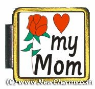 My Mom Gold Trim Italian Charm Save Bracelet Jewelry Link X077Gold