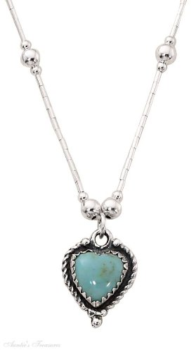 Sterling Silver Liquid Silver Choker Necklace Turquoise Heart Pendant