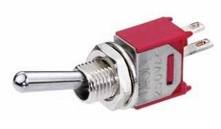 Bat Handle Subminiature Toggle Switch - 3A Spst-2Pack