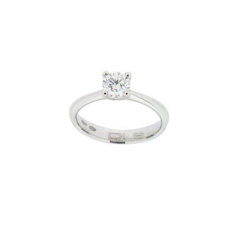 Anello Solitario DLS Oro bianco e Diamante - AS3158AU70