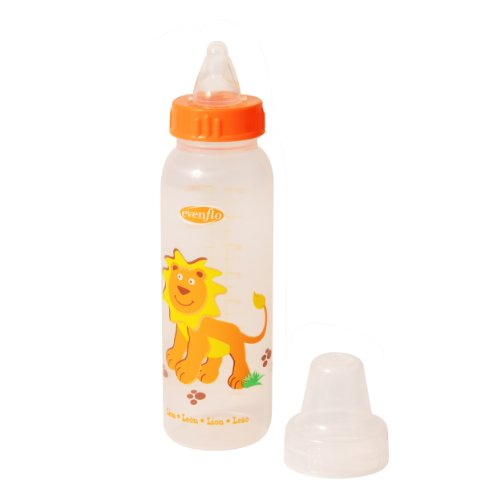 Evenflo Zoo Friends Bottle Pegable with Anatomic Nipple, 8 Ounce (Designs may vary) - 1