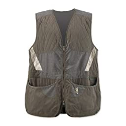 Browning Men\'s Summit Vest, Green/Dark Grey, XX-Large