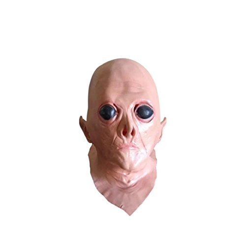[Koolee Novelty Nature Latex Scary Halloween Mask, Imitate Extra-terrestrial Head Mask] (Jeepers Creepers 2 Costume)