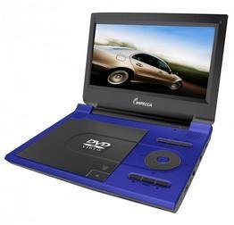 Impecca DVP915 Portable DVD Player with 9-Inch Widescreen Display (Blue)