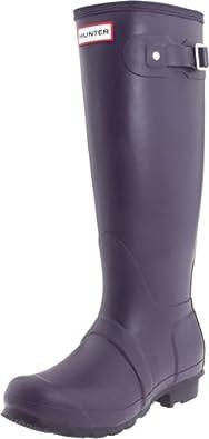 Hunter Original Tall Rain Boots Aubergine Size 5