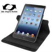 360 Degree Rotation Leather Case with Holder for iPad mini 1 / 2 / 3 (Black)