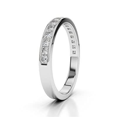 18 KT White Gold Diamond Half Eternity Ring AGDR-1135-SIH