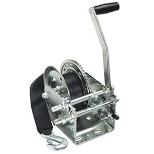 Fulton 2600-Pound 2-Speed Strap Winch with Strap-Hp Series