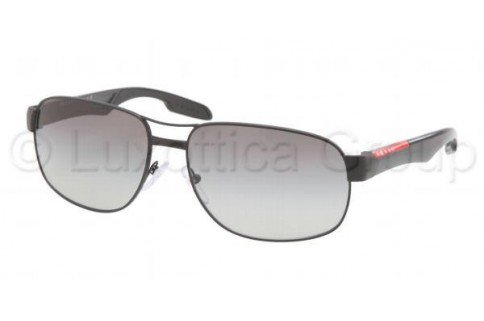 prada Prada Sport 58NS 1BO3M1 Demi Shiny Black 58NS Square Aviator Sunglasses Lens Ca