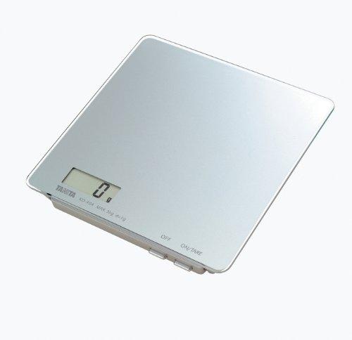 Tanita - KD-404SV - Balance de Cuisine - Électronique de Haute Précision - Plateau Verre - Facile à Nettoyer - Argent