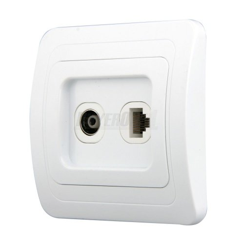 Aerial Tv Network Ethernet Lan Socket Outlet Wall Plate Faceplate