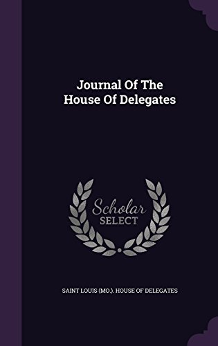 Journal Of The House Of Delegates