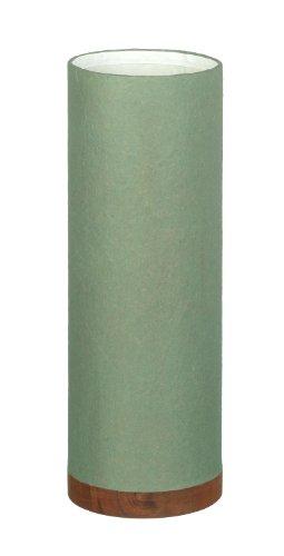 Tall Green Paper Garden Planter / Pot With Wooden Base H320 x 110mm