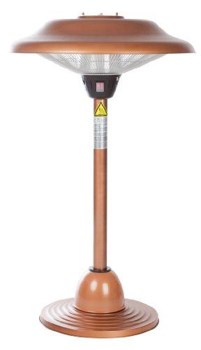 Fire Sense Copper Finish Table Top Round Halogen Patio Heater