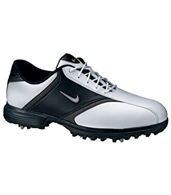 2011 Nike Men's Heritage Golf Shoes (Medium) (10 D(M), White/Black/Metallic Silver)