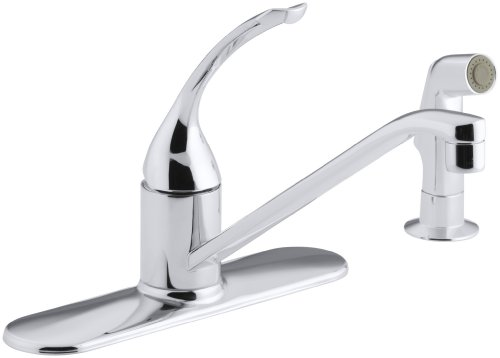 Kohler k 15172 fl cp coralais single control kitchen sink faucet polished chrome maryland for Kohler coralais bathroom faucet