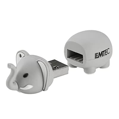 EMTEC Animal Series Safari 8 GB USB 2.0 Flash Drive, Elephant