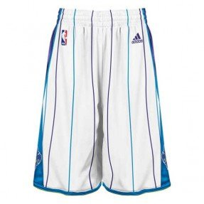 New Orleans Hornets Authentic White Swingman Shorts by adidas