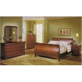 Louis Phillipe 6 Pc Bedroom Set In Cherry By