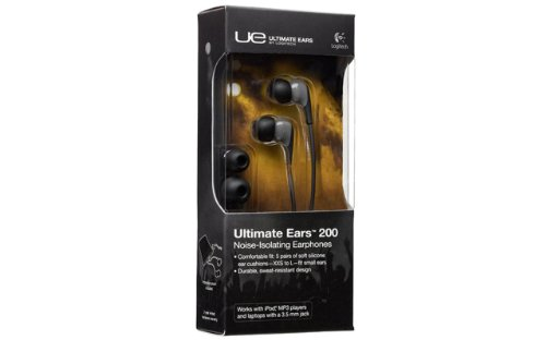 Logitech Ultimate Ears 200 Noise-Isolating Earphones For Iphones, Ipods, Ipads