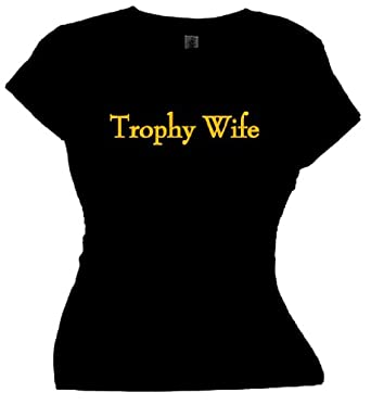 FDT Womens Lady SS T-Shirt-Trophy Wife-Black Sm