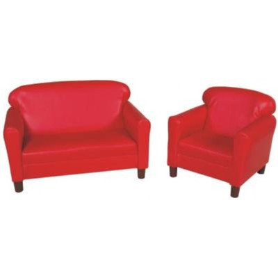 Childs Play Wooden Frame Vinyl Upholstery Furniture