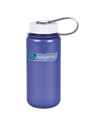 Nalgene Translucent Wide Mouth Bottle With Blue Lid