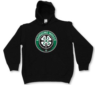 Flogging Molly - SHAMROCK Hoodie, Black - Buy Flogging Molly - SHAMROCK Hoodie, Black - Purchase Flogging Molly - SHAMROCK Hoodie, Black (Flogging Molly, Flogging Molly Mens Outerwear, Apparel, Departments, Men, Outerwear, Mens Outerwear)