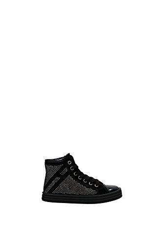 Sneakers Hogan Bambino Camoscio Nero e Argento HXC1410P50055OB999 Nero 34EU