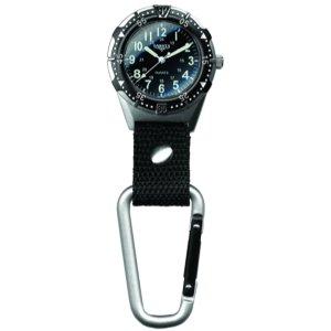 Dakota Watch Company Men's Aluminum Backpacker Clip Watch, Black (Watch Clip compare prices)