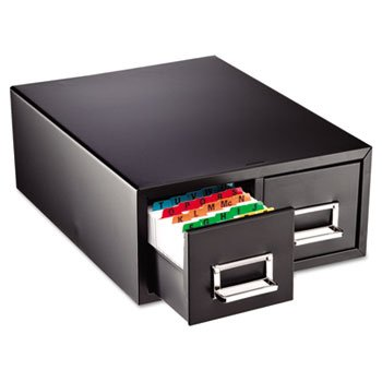 STEELMASTER by MMF Industries 263F4616DBLA - Drawer Card Cabinet Holds 3,000 4 x 6 cards, 14 1/2 x 16 x 6 1/4