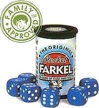 Original Pocket Farkel Miniature Set (Blue Dice)