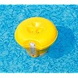 Bestway 58209 Doseur de chlore et brome flottant avec thermomètre intégré pour piscines et spas 16,5 cm