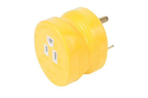 Camco 55233 30 AMP Male / 15 AMP Female Electrical PowerGrip Adapter (30 Amp Rv Power Adapter compare prices)