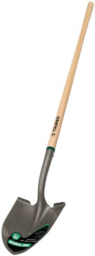 Truper 33037 Tru Tough Round Point Shovel with 48