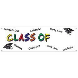 Class Of Year Sign Banner Party Accessory (1 count) (1/Pkg)