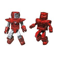 Picture of Diamond Marvel Minimates Collectible Action Figure 2-Pack - Silver Centurion Iron Man/Crimson Dynamo (B003VQBAXG) (Iron Man Action Figures)