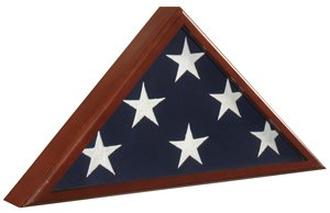 Flag Case Cherry Finish Solid Cherry wood